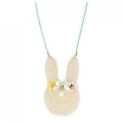 Collanina con coniglietto floreale