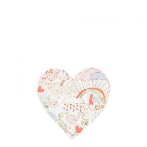 Tovagliolini di carta a forma di cuore fantasia San Valentino