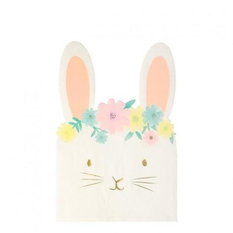 Tovaglioli di carta a forma di coniglietto pasquale
