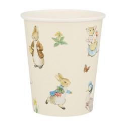 Bicchieri di carta pasquali Peter Rabbit