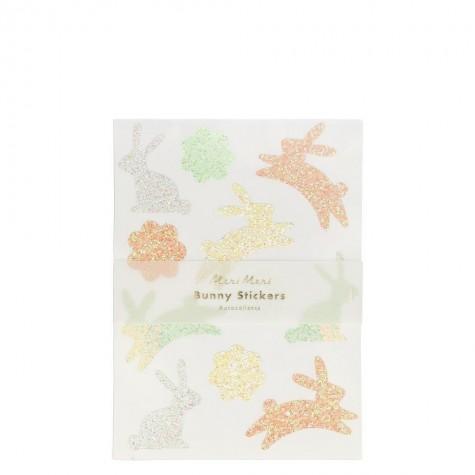 Stickers glitterati floreali e a forma di coniglietto