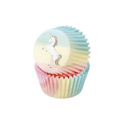 Pirottini per cupcakes fantasia Unicorno