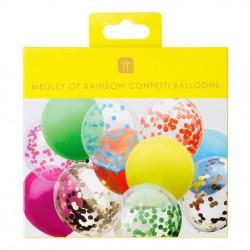 Palloncini con coriandoli arcobaleno