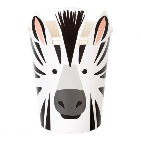 Bicchieri di carta fantasia zebra