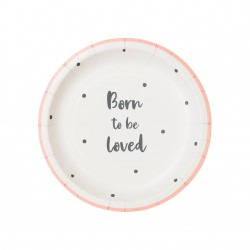 Piattini di carta Born to be loved