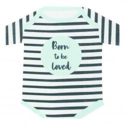 Tovaglioli a forma di pigiamino neonato
