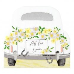 Tovaglioli di carta fantasia macchina degli sposi