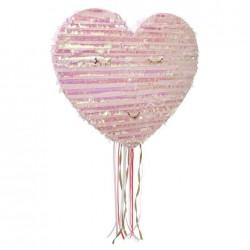 Pignatta a forma di cuore con ciglia dorate
