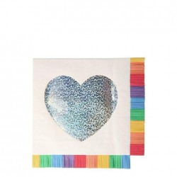 Tovaglioli di carta con cuore argento