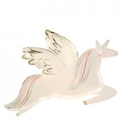Piattini di carta a forma di unicorno alato