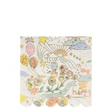 Tovaglioli di carta Happy Doodle