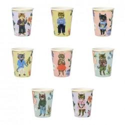 Bicchieri di carta fantasia gatto Nathalie Lete