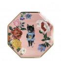 Piattini di carta fantasia gatto Nathalie Lete