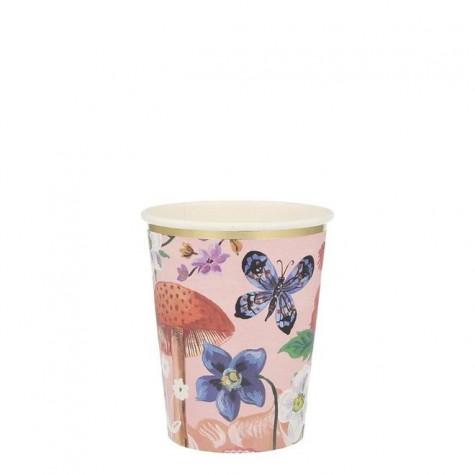Bicchieri di carta fantasia floreale Nathalie Lete