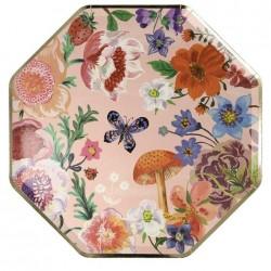 Piatti di carta fantasia floreale Nathalie Lete