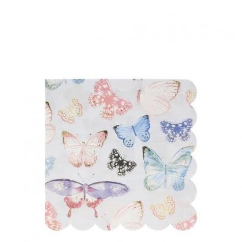 Tovaglioli di carta fantasia farfalle