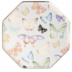 Piatti di carta fantasia farfalle
