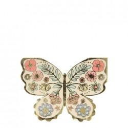 Tovaglioli a forma di farfalla floreale