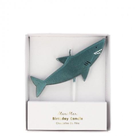 Candelina a forma di squalo