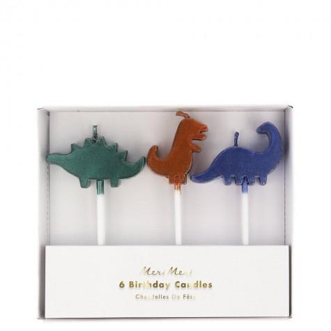 Candeline a forma di dinosauri