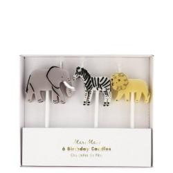 Candeline a forma di animali dello zoo