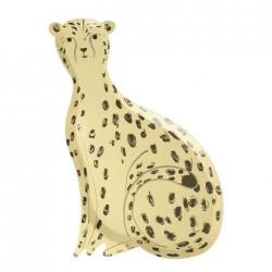 Piatti di carta a forma di ghepardo