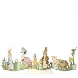 Biglietto di auguri a concertina Peter Rabbit