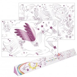 Poster da colorare Magic Unicorn