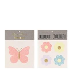 Tatuaggi temporanei Farfalla e Fiori