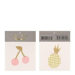 Tatuaggi temporanei Ciliegia e Ananas