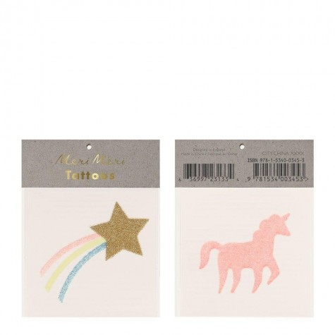 Tatuaggi temporanei Unicorno e Cometa