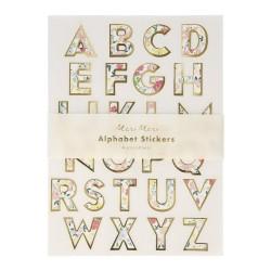 Stickers Alfabeto fantasia floreale English Garden