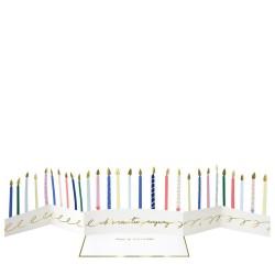 Biglietto Happy Birthday a concertina con candeline