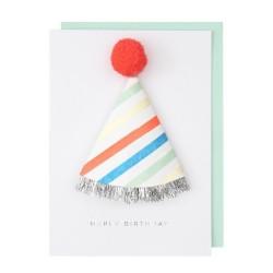 Biglietto Buon Compleanno con cappellino