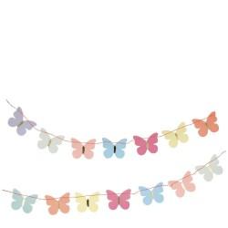 Ghirlanda con farfalline colorate