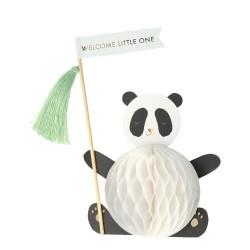 Biglietto di congratulazioni Panda 3D per nascituro