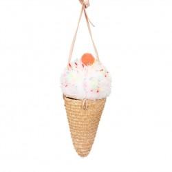 Borsetta a tracolla a forma di cono gelato