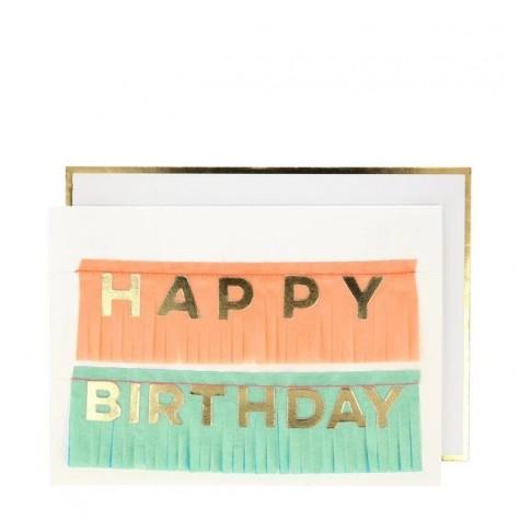 Ghirlanda di compleanno con frangette colorate
