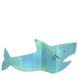 Biglietto di auguri a forma di squalo