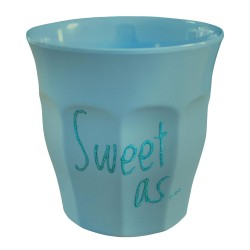 """Bicchiere turchese scuro """"Sweet as..."""" - Limited edition"""