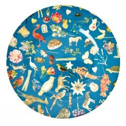 Piatto piano turchese fantasia Art Print