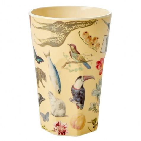 Bicchierone in melamina color crema fantasia Art Print