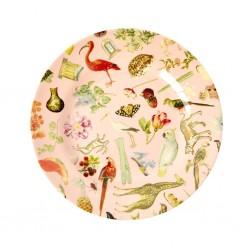 Piatto frutta rosa con fantasia Art Print