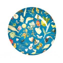 Piatto frutta turchese fantasia Art Print