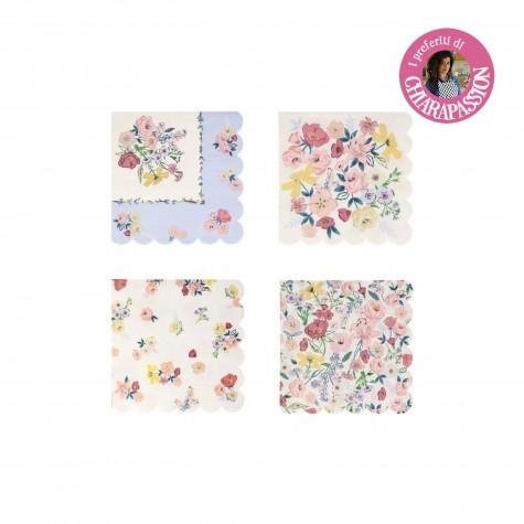Tovagliolini di carta fantasia floreale English Garden