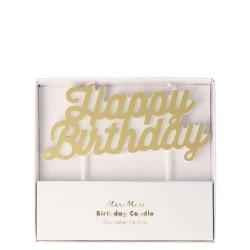 Candela Happy Birthday dorata