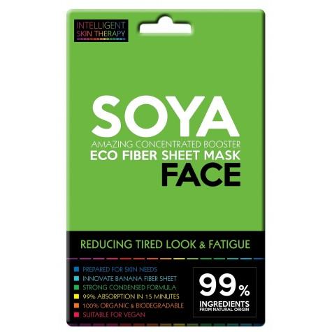 Maschera viso con proteine di soia