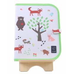 """Tovaglietta 2in1 """"Gioca e Mangia"""" fantasia animali della foresta"""