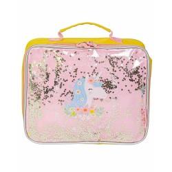 Borsa pranzo termica fantasia Unicorno con glitter
