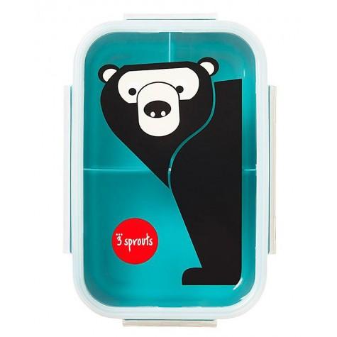 Porta pranzo bento 3 scomparti fantasia orso